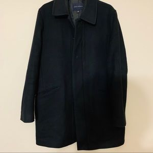 Banana Republic Black Wool/Cashmere Trench Coat